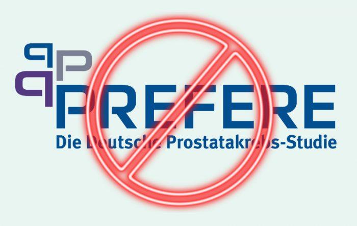 PREFERE-Logo durchgestrichen