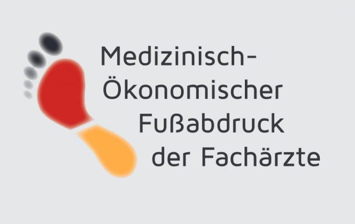 """""""Medizinisch-Ökonomischer Fußabdruck der Fachärzte"""" © BDU e.V."""