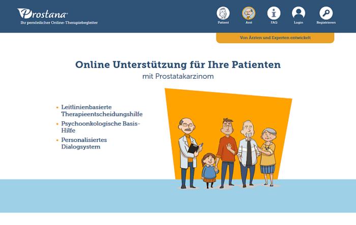 Screenshot vom PROSTANA®-Portal unter www.prostana.de