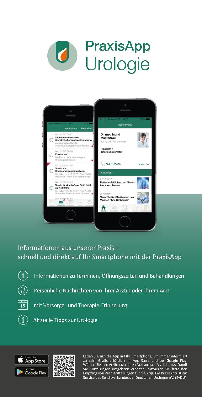 Werbeansicht der App auf zwei Smartphones verschiedener Größe