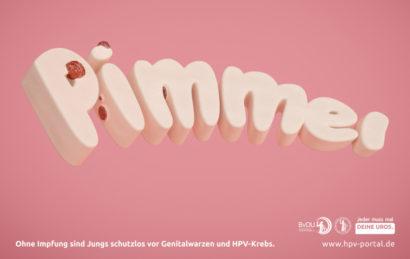 "Schriftzug ""Pimmel"" mit Gerschwüren an den Buchstaben"
