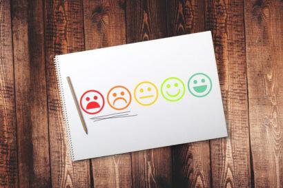 Smileys. Die unzufriedenen sind unterstrichen