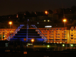 Le Méridien und Carl-Zeiss-Planetarium in Stuttgart. Foto: qwesy qwesy, CC BY 3.0